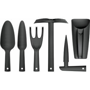 Σετ Εργαλείων Κηπουρικής Μαύρο Πλαστικό 6τεμ. Ai Decorations 363707