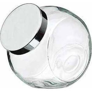 Βάζο Μπαχαρικών Γυάλινο Με Ασημί 190ml Καπάκι Homestyle 37199506-96