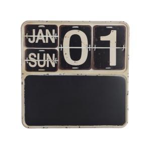 Μαυροπίνακας Μεταλλικός Με Ημερολόγιο 2,5x40x40 εκ 385178 kaemingk