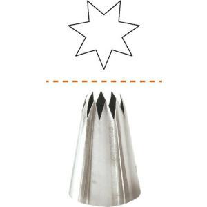Μύτη Κορνέ 6mm Με Οδοντωτά Χείλη 18/10 Cutlery Pro 39-210605