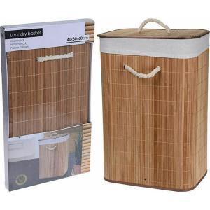 Καλάθι Απλύτων Bamboo Καφέ 40Χ30Χ60CΜ JK Decorations 456923