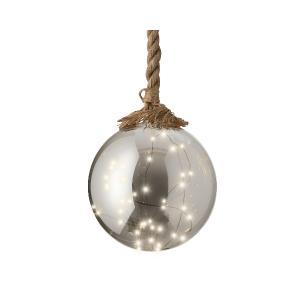 Διακοσμητική Μπάλα με micro LED Φωτάκια σε Σκοινί Kaemingk 480369