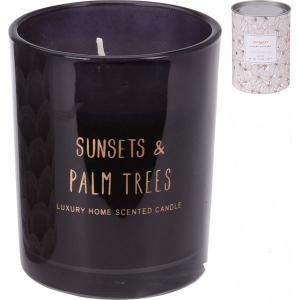 Κερί Αρωματικό Γυάλινο σε Δοχείο με Καπάκι σε 3 Σχέδια JK Home Decoration 485275
