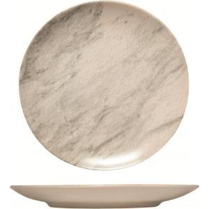 Πιάτο Ρηχό Φαγητού Κεραμικό 27εκ. Marble Happyware Alfa 51.10092