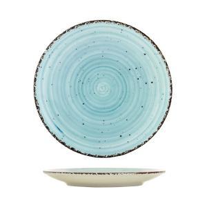 Πιάτο Ρηχό Στρογγυλό 21cm Πορσελάνης Turquoise Avanos Gural 52.85052