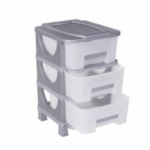 Συρταριέρα Αποθήκευσης 3 Κλειστά Συρτάρια Βέστα 60x42x38cm Homeplast Α00308