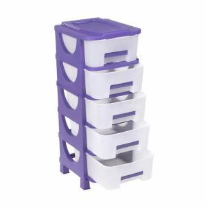 Συρταριέρα Αποθήκευσης Πλαστική Μικρή Κλειστή 5 Συρτάρια Ούμα 95x42x38cm Homeplast Α00363