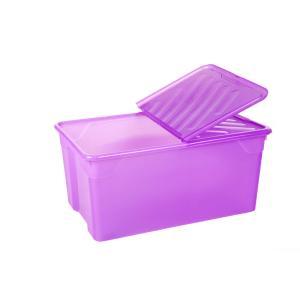 Κουτί Αποθήκευσης 92lt με Καπάκι 70x46x31cm Homeplast Α00562