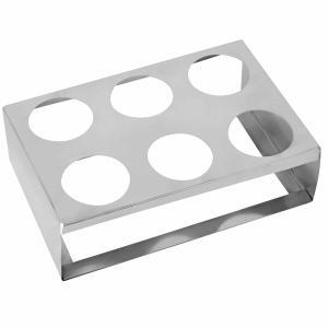 Βάση inox Για Ισοθερμικές Τσάντες Μεταφοράς 6 θέσεων 29x20 cm   9 cm GTSA 53-156