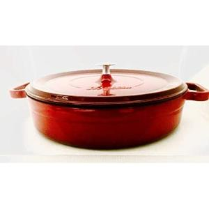 Κατσαρόλα Μαντεμένια Ρηχή Κόκκινη 24εκ. SIL1424 Silver 53.10005