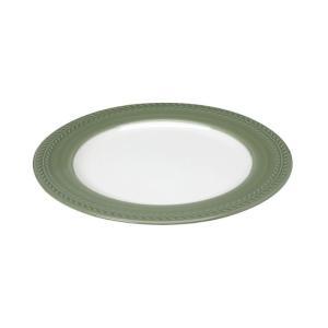 Πιάτο Ρηχό Λευκό/Πράσινο Στρογγυλό 20εκ Chloe Espiel RRB203K6