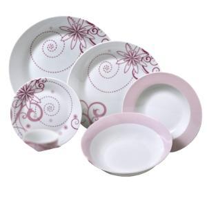 Σετ 20 τεμ. Σερβίτσιο Πιάτων Πορσελάνης Floral HFA 5401009