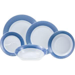 Σετ 20 τεμ. Σερβίτσιο Πιάτων Πορσελάνης Ellipsis Blue HFA 5401015