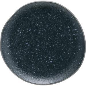 Πιάτο Φρούτου Πορσελάνης Granite Μαύρο 18,7×18,3×2,3cm HFA 5413020