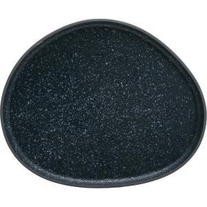 Πιατέλα Σερβ/τος Πορσελάνης Granite Μαύρη 34×27,8×2,2cm  HFA 5415020