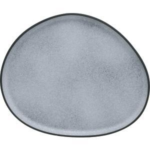 Πιατέλα Σερβίρισματος Πορσελάνης Granite Γκρι 34×27,8×2,2cm HFA 5415021