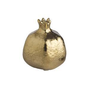 Διακοσμητικό Ρόδι Κεραμικό Χρυσό 9x10cm JK Home Decoration 54212