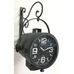 Ρολόι Επιτοίχιο Μαύρο Μεταλλικό JK Home Decoration 54822