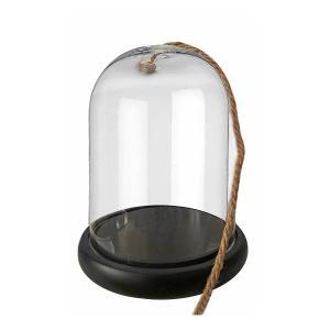 Βάση με γυάλα καμπάνα και σχοινί 15x20cm JK collection 55406