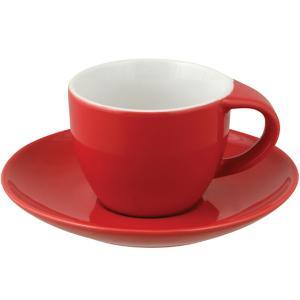 Φλυτζάνι Espresso Με Πιατάκι Κόκκινο Κεραμικό 8cl PKS 60.40414