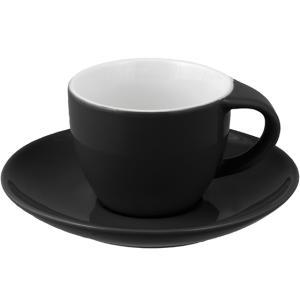 Φλυτζάνι Espresso Με Πιάτο Κεραμικό Μαύρο 8cl PKS 60.40415