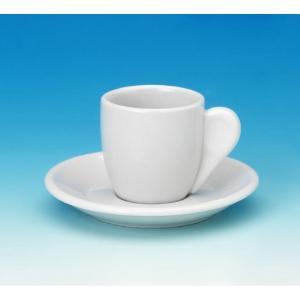 Φλυτζάνι Καφενείου Άσπρο Πορσελάνης Με Πιατάκι 11cm GTSA 64-33108