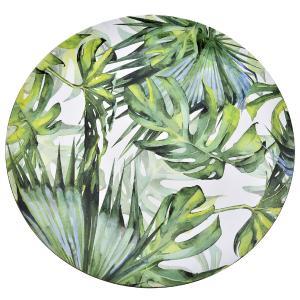 Πιατέλα Σερβιρίσματος με Φύλλα 33cm Πράσινη Πλαστικιά AI Decoration 65820