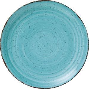 Πιάτο Ρηχό Στρογγυλό Ø27cm Γαλάζιο Πορσελάνης Tiffany GTSA 66-7027