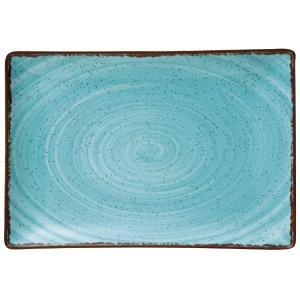 Πιατέλα Ορθογώνια 31x21cm Γαλάζια Πορσελάνης Tiffany GTSA 66-7331