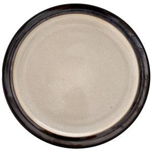 Πιάτο Με Σχέδιο Κεραμικό Κρεμ/Γκρι Φ27cm AI Decoration 69406