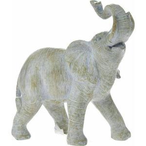 Διακοσμητικός Γκρί ελέφαντας πολυρεζίν 10x5x12cm AI Decoration 74080
