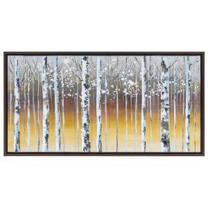 Διακοσμητικός Πίνακας Με Κορμούς Δέντρων 125x65cm Με Κορνίζα AI Decoration 74231