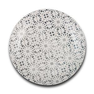 Πιάτο Ρηχό Maiolica Grey Στρογγυλό 27cm Nava 10-099-101