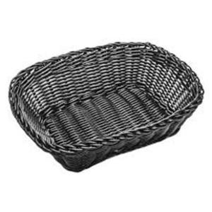Ψωμιέρα Ορθογώνα Μαύρη 24x18 cm | 8 cm GTSA 76-6013