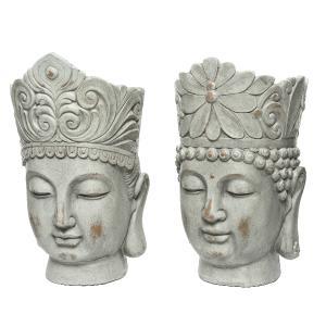 Διακοσμητικές Γλάστρες Buddha Kaemingk 850306