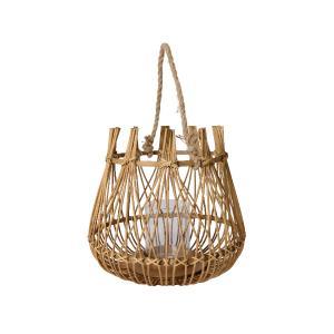 Διακοσμητικό Φανάρι Bamboo με Χερούλι Kaemingk 861321