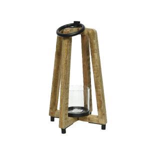 Διακοσμητικό Φανάρι απο Φυσικό Ξύλο Mango Kaemingk 863571