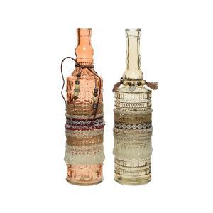 Γυάλινα Μπουκάλια με Διακόσμηση Kaemingk 865953
