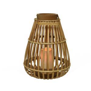 Φανάρι απο Bamboo με LED Φωτισμό Kaemingk 8940570