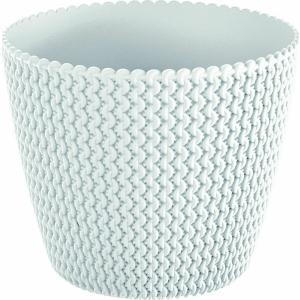 Κασπώ Άσπρο Πλαστικό Splofy Φ22x18cm AI Decorations 975740