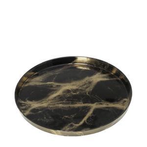 Διακοσμητική Πιατέλα Γυάλινη Katsu Μαύρη 33x33x1.5cm Espiel AD1767