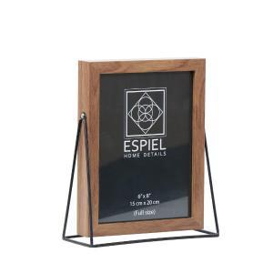 Κορνίζα Ξύλινη Με Μεταλλική Μαύρη Βάση 13x18cm Espiel FAM517