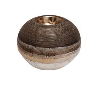 Κηροπήγιο κεραμικό για ρεσώ στρογγυλό 13x13x10.5cm Karvounis Bros GL17696
