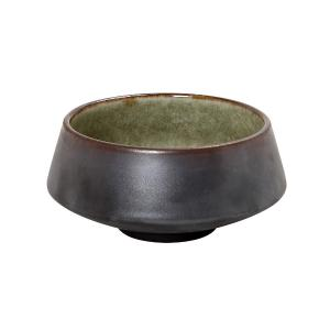 Σαλατιέρα Στρογγυλή Κώνική Κεραμική 10cm Καφέ-Πράσινο Pebble GMT101 Espiel