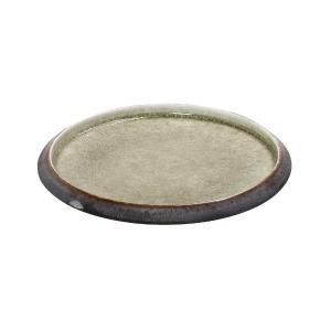 Πιάτο Στρογγυλό Κεραμικό Καφέ-Πράσινο 21cm Pebble Espiel GMT111
