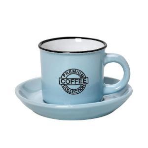 """Φλυτζάνι 300ml Cappuccino """"Coffee"""" Blue, με Πιατάκι Espiel HUN309K6"""