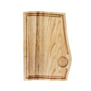 Ξύλινο πιάτο καστανιάς 32×22 με λούκι & ντιπ ΚΑΣ-020175 Rozos