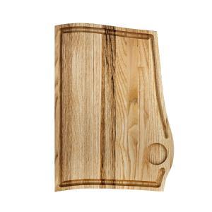 Ξύλινο πιάτο καστανιάς 38×28 με λούκι & ντιπ ΚΑΣ-020176 Rozos