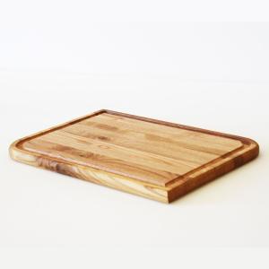 Ξύλινο πιάτο καστανιάς 30×20 με λούκι ΚΑΣ-020177 Rozos