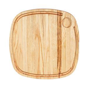 Ξύλινο πλατώ καστανιάς 35×35 με λούκι & ντιπ ΚΑΣ-020191Rozos